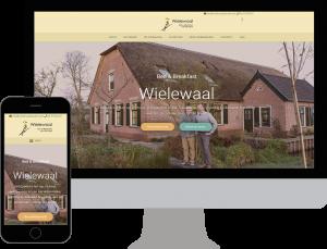 Website Wielewaal op mobiel en desktop